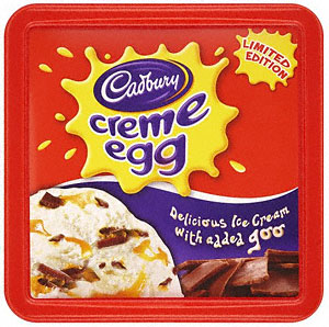 Cadburys Creme Egg Ice Cream