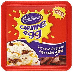 Cadburys Creme Egg Ice Cream