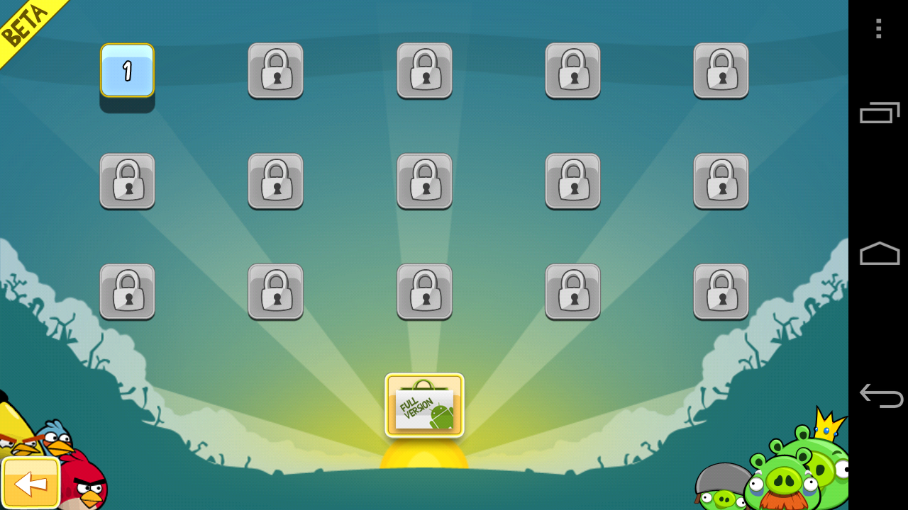 Angry Birds Lite Beta 2 Android Level Select