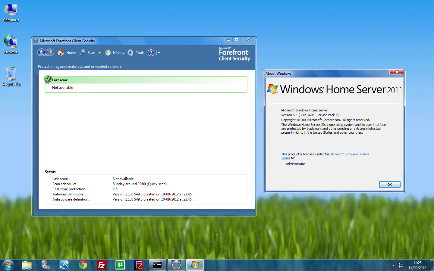 Forefront Security on Windows Home Server 2011