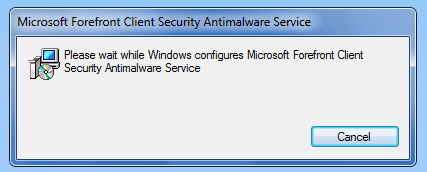 Forefront Security on Windows Server Install