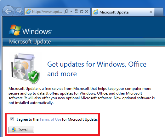 Forefront Security on Windows Server Enable Updates