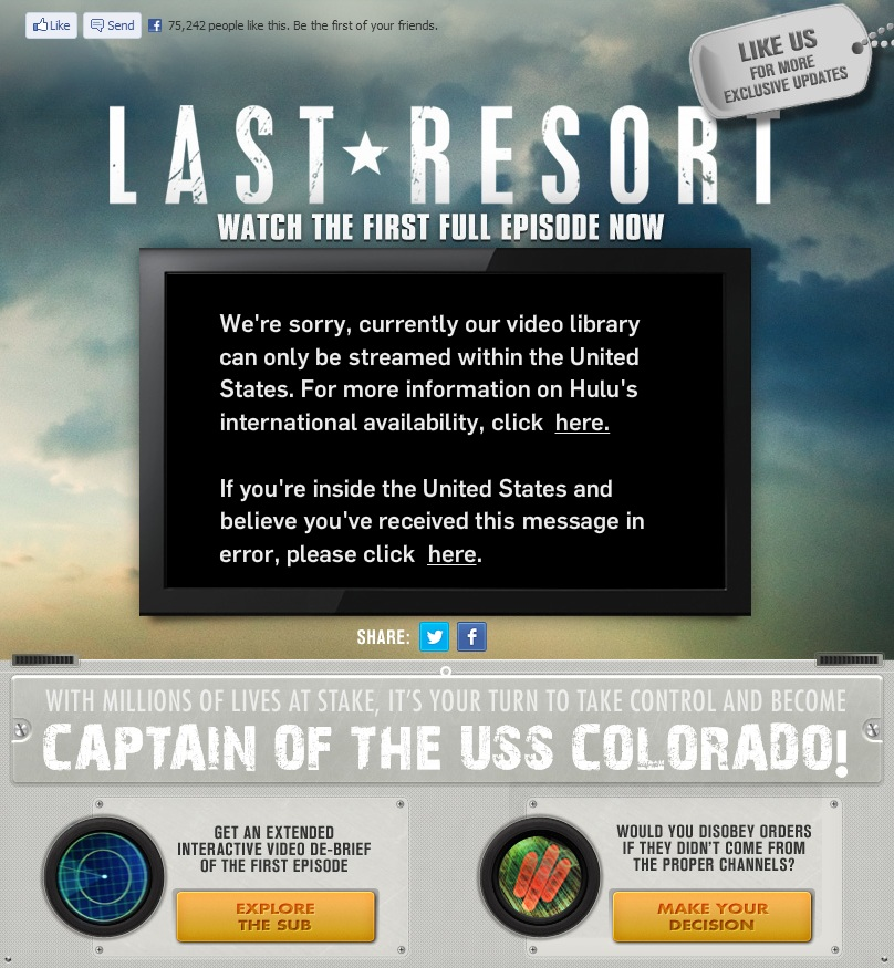 Last Resort Region Restricted Web Content