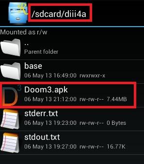 Doom 3 Android APK Install