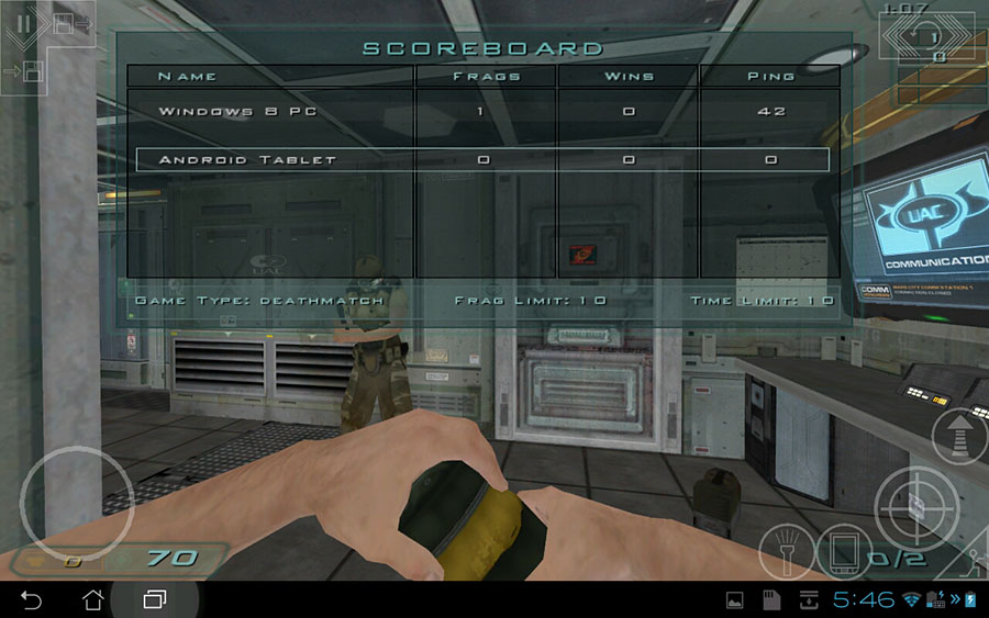Doom 3 Android Gameplay Screenshot