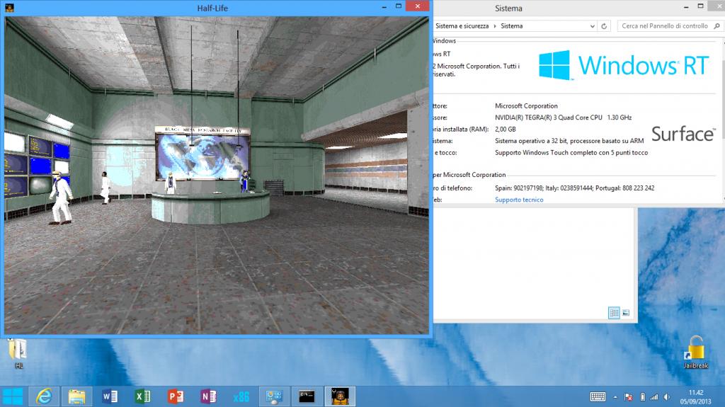 Half Life on Microsoft Surface RT (Windows RT ARM)