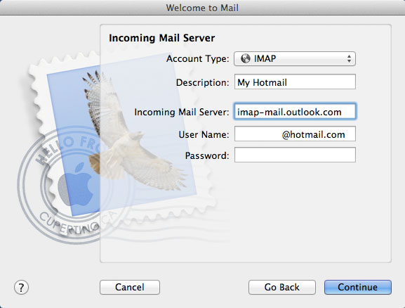 Hotmail / Outlook IMAP setup on OSX
