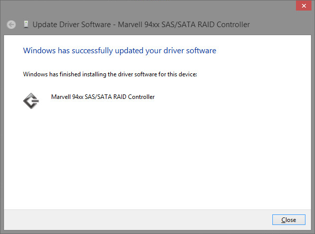 Rocket 2720SGL driver install on a Windows Server 2012 R2 Virtual Machine