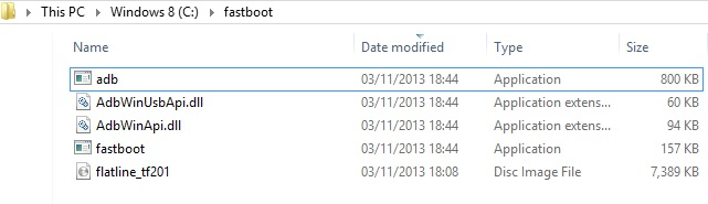 Asus Transformer Prime TF201 Fastboot Files