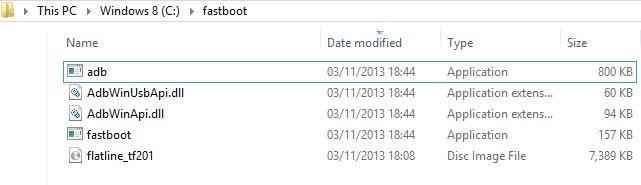 Asus Transformer Prime TF201 Fastboot Files