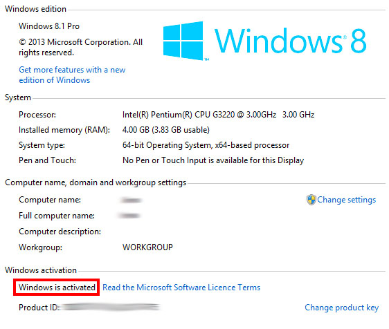 Windows 8.1 Product Key Activate