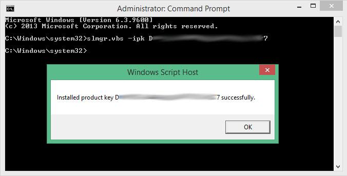 Windows 8.1 Product Key Install