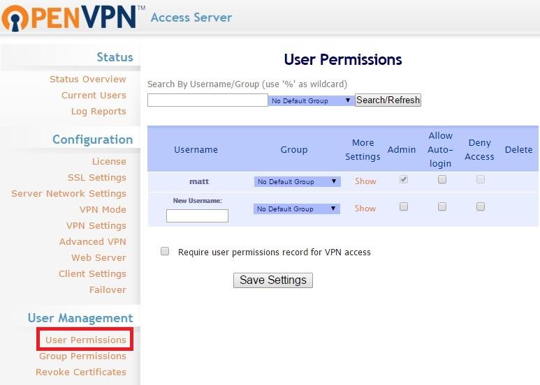 open-vpn-user-permissions