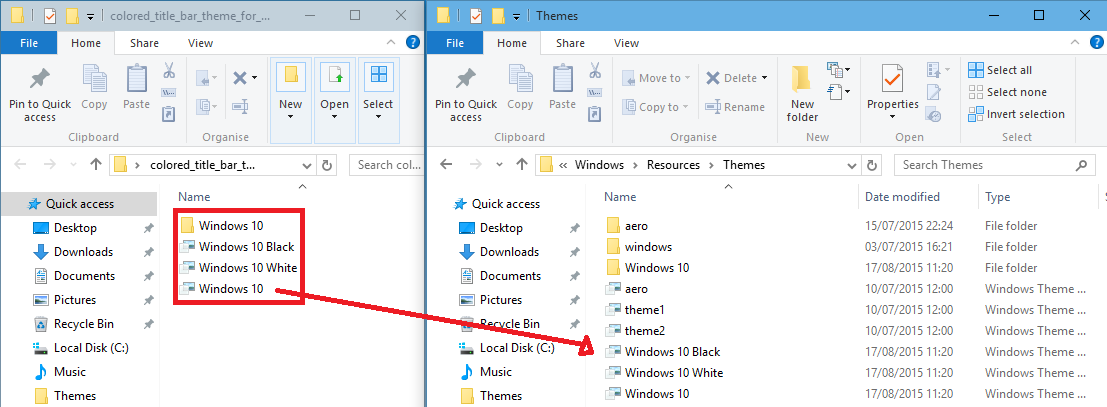 Windows 10 Title Bar Colour Change