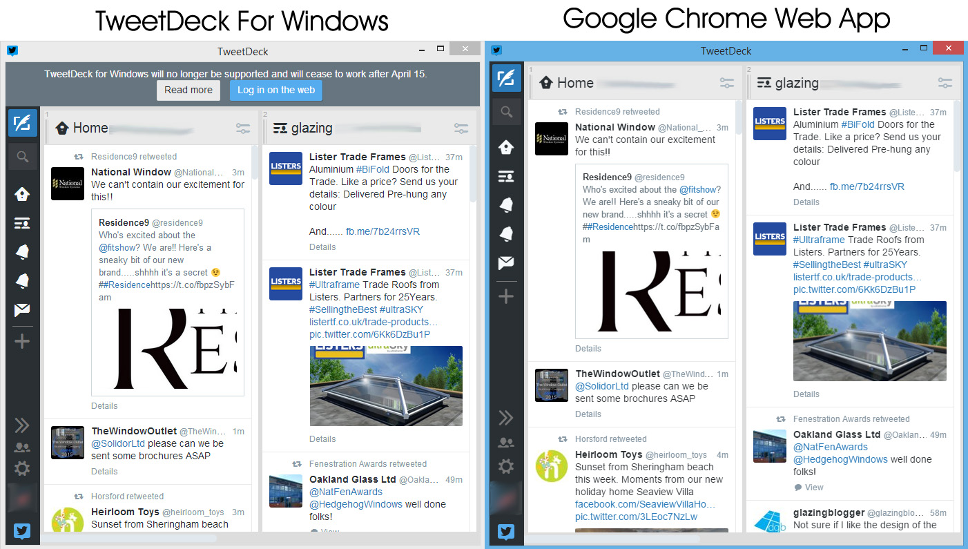 Use TweetDeck Web as a Twitter Desktop App